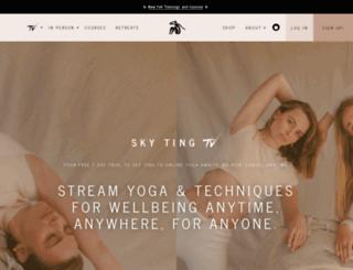 skytingyoga.com screenshot