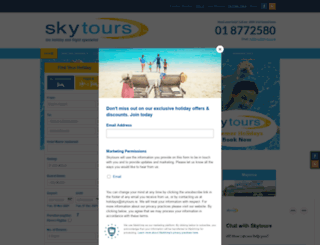 skytours.ie screenshot