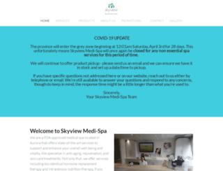 skyviewspa.ca screenshot