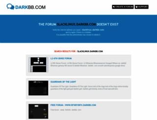 slacklinux.darkbb.com screenshot