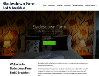 sladesdownfarm.co.uk screenshot
