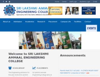 slaecollege.edu.in screenshot