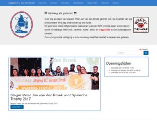 slagerijvandenbroek.nl screenshot