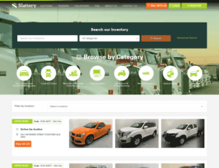 slatteryauctions.com screenshot