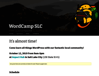 slc.wordcamp.org screenshot