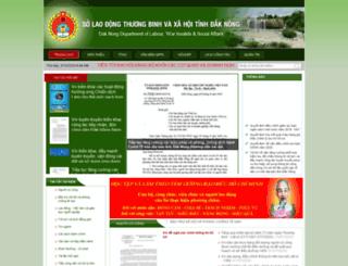 sldtbxh.daknong.gov.vn screenshot
