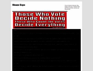 sleazeexpo.wordpress.com screenshot