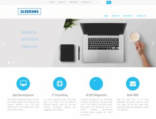 sleeksms.net screenshot