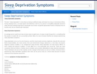 sleep-deprivation-symptoms.com screenshot