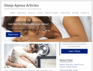 sleepapneaarticles.com screenshot