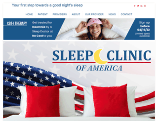 sleepclinicamerica.com screenshot