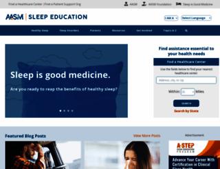 sleepeducation.org screenshot