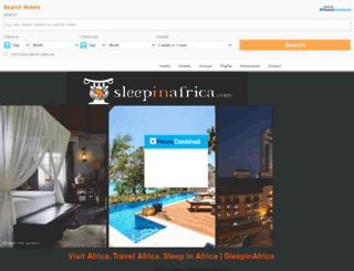 sleepinafrica.com screenshot