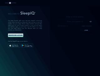 sleepiq.sleepnumber.com screenshot