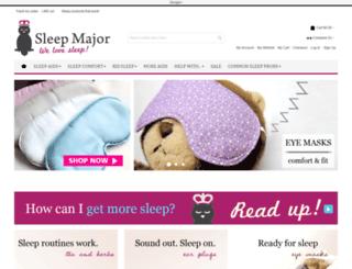 sleepmajor.com screenshot