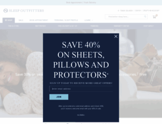sleepoutfitters.com screenshot