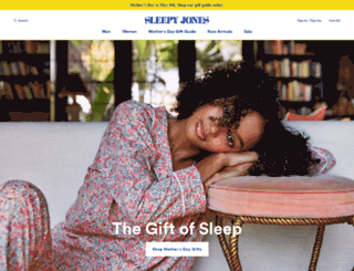 sleepy-jones.myshopify.com screenshot