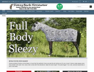 sleezybarbhorsewear.com screenshot