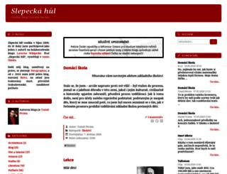 slepeckahul.pecina.cz screenshot