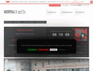 slhs1.univ-fcomte.fr screenshot
