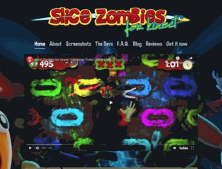 slicezombies.com screenshot