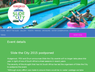 slidethecitysa.co.za screenshot