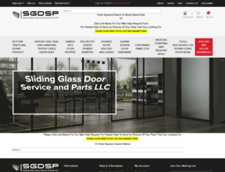 slidingglassdoorparts.com screenshot