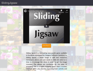 slidingjigsaw.com screenshot