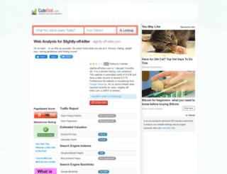slightly-off-kilter.com.cutestat.com screenshot