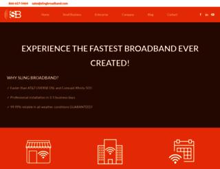 slingbroadband.com screenshot