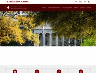slis.ua.edu screenshot