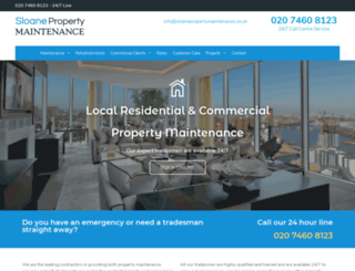 sloanepropertymaintenance.co.uk screenshot