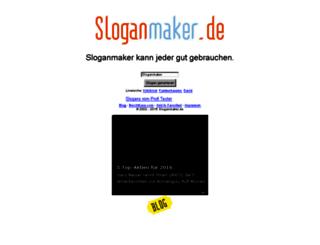 sloganmaker.de screenshot
