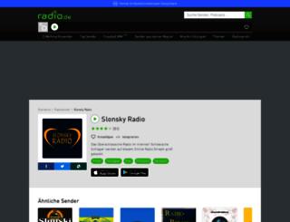 slonsky.radio.de screenshot