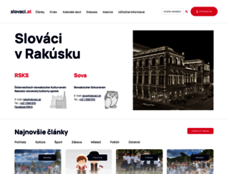 slovaci.at screenshot