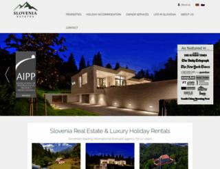 sloveniaestates.com screenshot