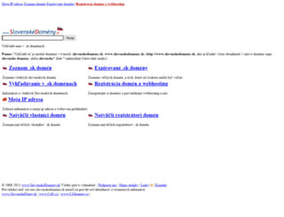 slovenskedomeny.sk screenshot
