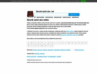 slovnik-cizich-slov.net screenshot