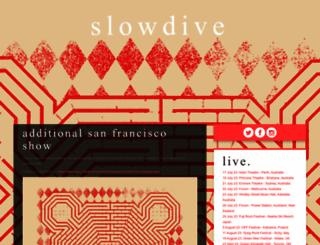 slowdiveofficial.com screenshot