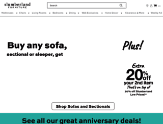 slumberland.com screenshot