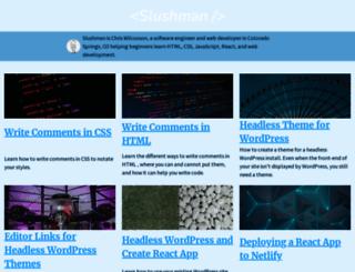slushman.com screenshot