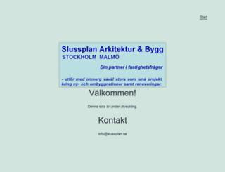 slussplan.com screenshot