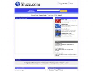 sluze.com screenshot