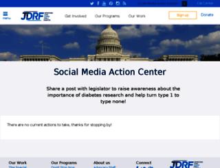 smac.jdrf.org screenshot