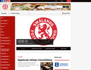 smalandsfotbollen.se screenshot