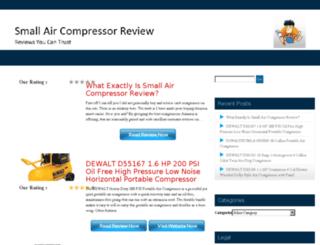 smallaircompressorreview.com screenshot