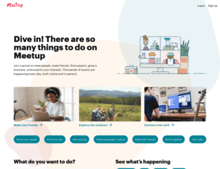 smallbiz.meetup.com screenshot
