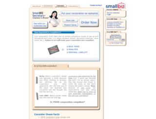 smallbizsecretary.com screenshot