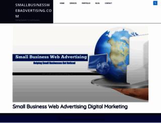 smallbusinesswebadvertising.com screenshot