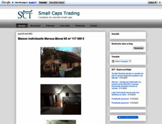 smallcapstrading.blogspot.com screenshot